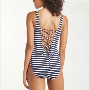 Tommy Bahama Breton One Piece Swimsuit.  Lace up